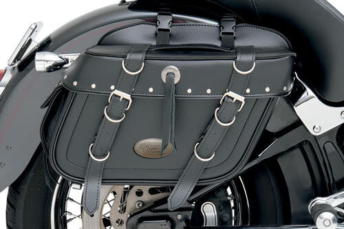 All American Rider Extra-Large Box-Style Detachable Slant Saddlebags -Rivet