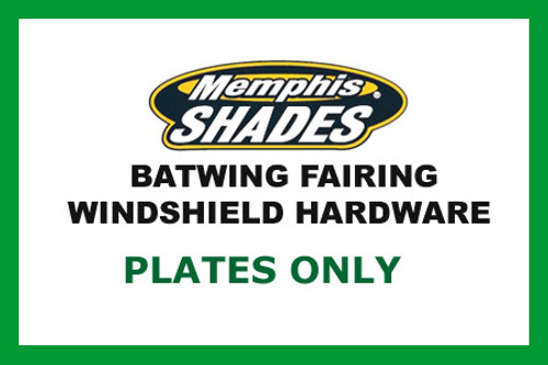 *CLEARANCE OPEN BOX* Memphis  Shades  Batwing Plate Only Kit for VTX1300 w/ Covered Forks '03-09-Black FAIRING, MOUNTING KIT & WINDSHIELD NOT INCLUDED