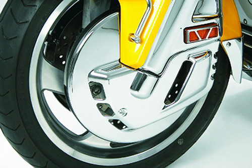 Show Chrome Chrome Front Rotor Covers  for GL1800 '01-10 & '12  (excluding air bag models)