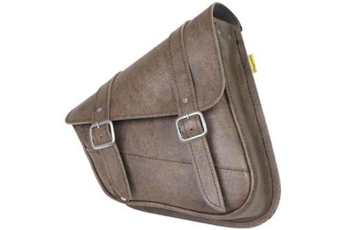 Willie & Max Revolution Universal Swingarm Saddlebag -Vintage Brown, Each Ideal for models w/ dual shocks