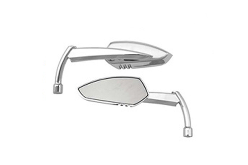 Hard Drive Parts Apache Alloy Mirror w/ Knife Stem Universal Fit -Chrome, Right (each)