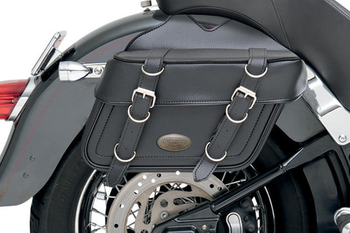 All American Rider Box-Style Slant Saddlebags X-Large, Plain