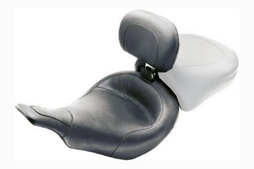 Mustang  Solo Seat with Driver Backrest  for FLHT & FLTR \'97-07 -Smooth