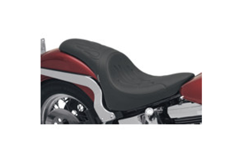 Drag Specialties Predator Seat for '84-99 FXST/FLST (Except FXSTD & FLSTN) -Flame Stitch