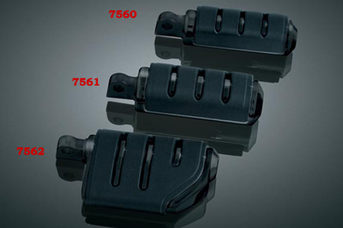 Kuryakyn  Male Mount Pegs Trident Dually ISO Footpegs  -Black  Does not fit the Sportster 48, 72  & '11-12 XL1200C Models