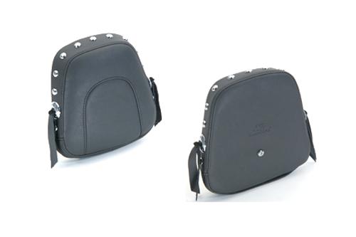 Mustang  Sissy Bar Pad for FXS Blackline '11-13 & FLS Slim '12-13 -Studded w/ Conchos