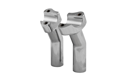 "Hard Drive Forged Handlebar Risers for 1"" Bars -4.5"" Chrome Pullback Style"