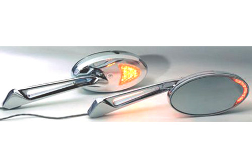 Rivco Products Inc. Custom L.E.D. Turn Signal Mirrors -Pair Not for Victory Cross Roads/Cross Country