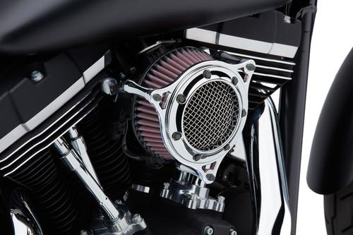 Cobra RPT PowrFlo Air Intake for Harley Davidson Touring Models '08-16, Softail '16-17, Dyna Models '17 - Chrome/Chrome