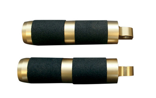 Accutronix Brass Male-Mount Footpegs -Rubber/Inlay (pr)