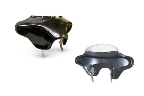 Hoppe Industries Vanilla Zilla Non-Audio Fairing  for '05-Up FLSTN Models w/ OEM Quick Detach Mounts