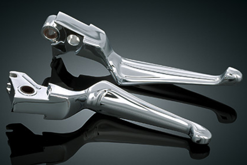 Kuryakyn Boss Blades Brake & Clutch Levers for Road King & FL/Dressers '08-13  w/ Cable Operated Clutch