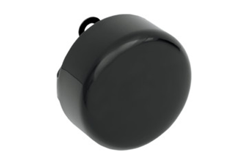 Drag Specialties Horn Cover for most '91-Up Big Twin & XL Models -Round, Black Wrinkle