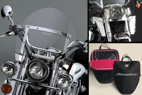 National Cycle SwitchBlade Windshield for V-Star 1100 CLSC '99-up & V-Star 650 Classic '98-Up - Shorty Style