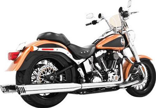 Freedom Performance Exhaust Racing Dual System for Harley Davidson Softails '07-17 - Chrome with Chrome Tips