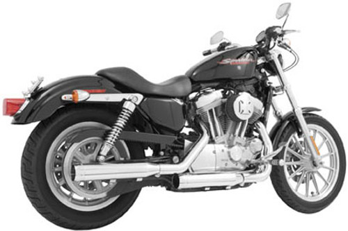 Freedom Performance Exhaust Signature Slip Ons for '14 & Up XL Models -Black w/ Black Tip (Shown in Chrome)