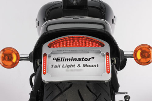 Cycle Visions Eliminator LED Taillight/License Plate Frame -FLSTC '00-Up -Chrome