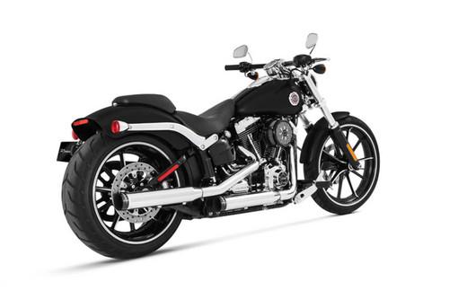 Rinehart 3 inch Slip-On Mufflers for '07-17 Harley Davidson Fat Boy