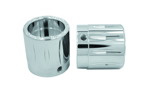 """Avon Axle Nut Covers for all H-D Touring -Rival, Chrome-1"""""""