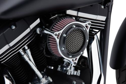 Cobra RPT PowrFlo Air Intake for Harley Davidson Touring Models '08-16, Softail '16-17, Dyna Models '17 - Black/Chrome
