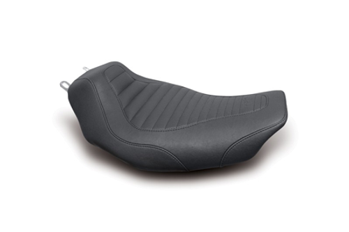 Mustang Tripper Solo Tuck and Roll Seat for '97-07 FLHR and FLHX Models
