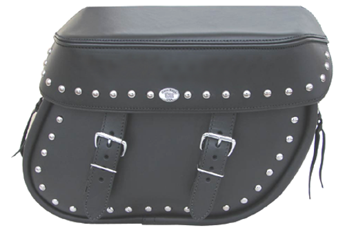 Boss Bags #38 Model Studded on Bag Body and Lid Valence for Harley Models