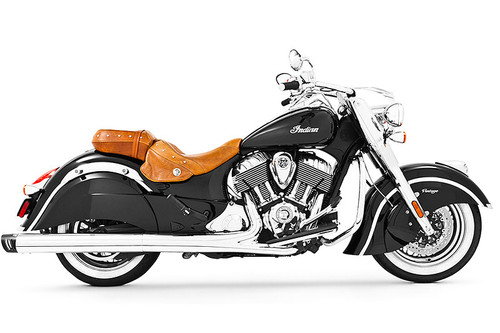 Freedom Performance Racing 4 inch Slip-On Exhaust for '14-Up Indian Challenger, Chieftain, Roadmaster & Springfield - Chrome w/Black Tip