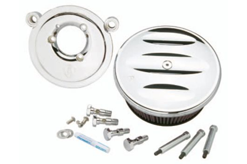 Arlen Ness  Billet Sucker Stage I Air Cleaner Assembly for all '99-'06 Twin Cam carb & '01-17 Twin Cam Delphi EFI (Excludes 08-17 FLH, FLT; 16-17 FLSTFS, FLSS models) - Scalloped Style