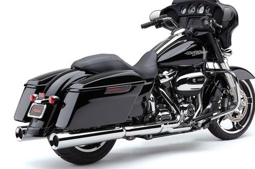 Cobra   PowrFlo 4.5 -inch Slip-On Mufflers  for '17-Up Harley Davidson Touring Models  - Chrome