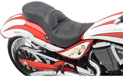 Drag Specialties Low Profile Touring Seat w/ Driver Backrest Option for Victory Jackpot & Vegas Jackpot '06-15 - Pillow