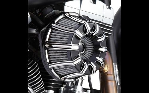 Arlen Ness Inverted Series 10-Gauge Air Cleaner Kit for Harley Davidson Touring Models & Trikes 2008-2016 -Black Anodized