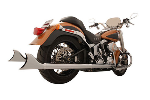"""Freedom Performance Sharktail System for '07-17 Softail  (will fit '16 FLS) - Extended 36"""", Chrome"""