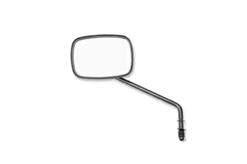 Drag Specialties Replacement Mirrors  w/ Low Rider Stem, Gloss-black -Each