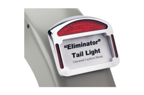 Cycle Visions Eliminator LED Taillight/License Plate Frame for Custom Fenders -Chrome