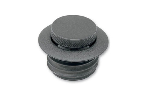 """Drag Specialties Pop Up Gas Cap for '04-12 XL (2.36"""" O.D.) Vented -Wrinkle Black"""