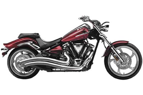 Cobra Swept Exhaust for Yamaha Raider Models '08-up - Chrome