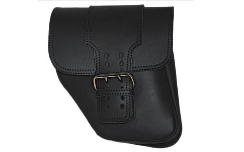 La Rosa Design Left-Side Straight Solo Side Bag for '04-Up Dyna Wide Glides -Black