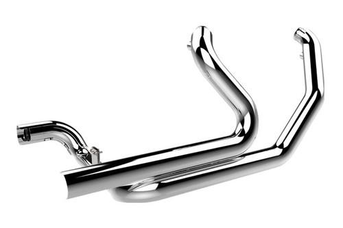 Khrome Werks Exhaust 2-into-2 Crossover Headers w/ Heat Shields for '09-16 FLHT, FLHR, FLHX, FLTRX - Chrome