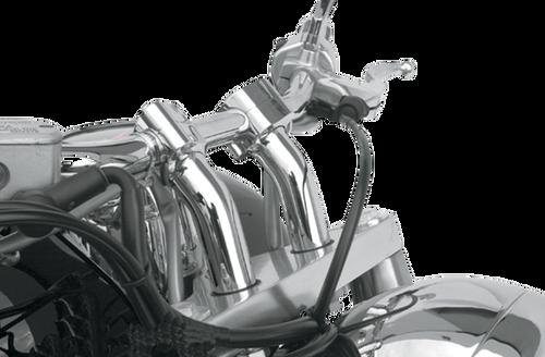 Baron Custom 4 Inch Kickback Risers for Metric Cruisers - Chrome (Click for Fitment)