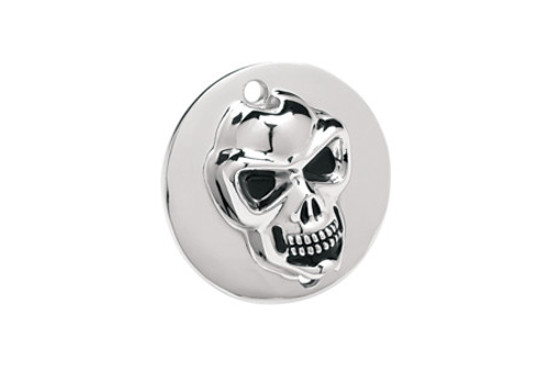 Drag Specialties 3-D Skull Points Cover for '99-Up  Twin Cam