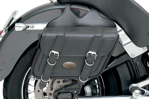 All American Rider Slant Flap Over Style Saddlebags -Large, Plain