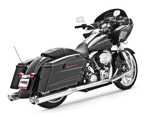 Freedom Performance Exhaust Racing Dual System  for '86-08 FLH/FLT -Chrome w/ Chrome Tip