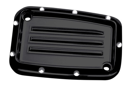 Covingtons Customs Hydraulic Clutch Master Cylinder Cover for '14-Up FLHT/ FLHX/ FLTRX and '08-13 Harley CVO models Dimpled, Black