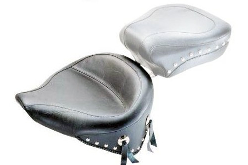Mustang  Wide Solo Seat for Softail FXST '07-09 w/ 150mm Rear Tire  -Studded