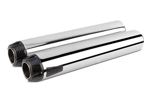 Two Brothers Racing Comp-S Dual Chrome & Carbon Fiber Exhaust for '12-17 Goldwing & F6B Models Chrome