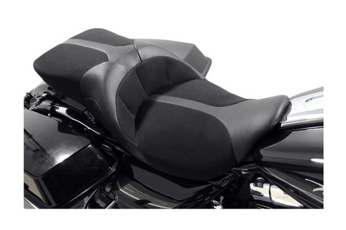Danny Gray Seats TourIST 2-Up Air Seat for Harley Davidson Touring Models 2008-Up -Black Leather