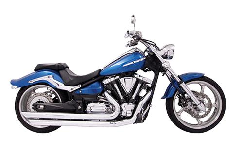 Freedom Performance Patriot LG Exhaust for '08-17 Yamaha Raider - Chrome