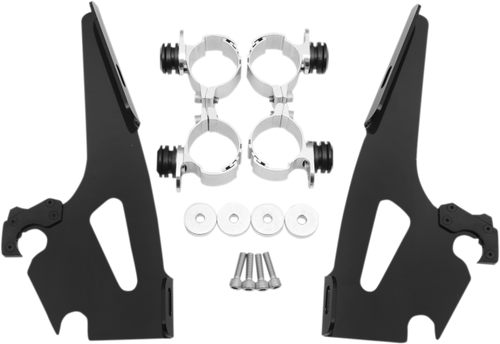 Memphis  Shades  Batwing Windshield Mounting Kit for Spirit 1100 '97-08-Black FAIRING AND WINDSHIELD NOT INCLUDED