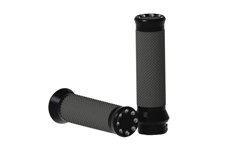 Hard Drive Custom Grips for Cable Throttle -Black, Throttle Style