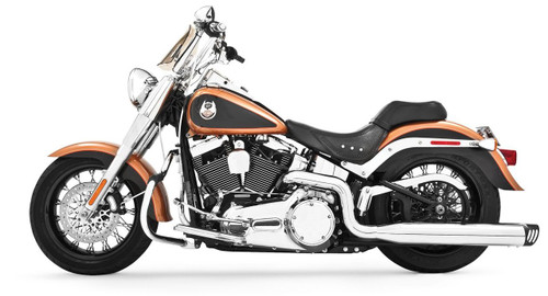 Freedom Performance Exhaust Racing Dual System for '07-17 Softails -Chrome w/ Black Tip